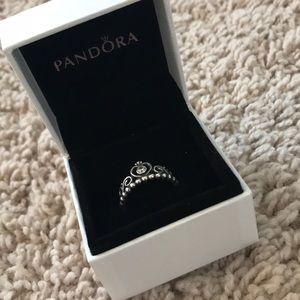 Authentic Silver My Princess Pandora Ring! Size 7